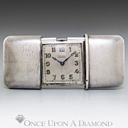 SALE Movado Chronometre Sterling Silver Purse Watch Slider Swiss