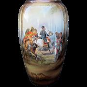"SALE R.S. Suhl 11 ½"" Napoleon Battle Scene Vase"