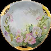 Sherratt's H.P. 3 Handled Dish w/Pastel Floral- R.S. Germany