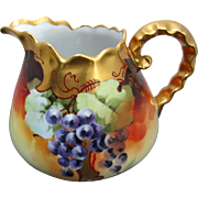 Edward Donath Studio H.P. Cider Pitcher w/ Grapes & Gold Décor (1906-1910)