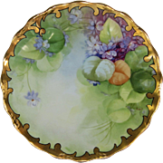 J.H. Stouffer Company H.P. Plate w/ Violets by Pickard Artist Edith Arno (1905 ...