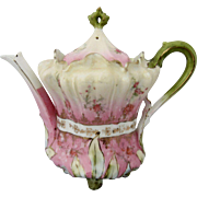 R.S. Prussia Lily Of The Valley Teapot w/ Roses & Pink