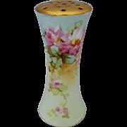 "Bavaria H.P. Pink Roses w/ Light Blue & Gold Hatpin Holder by artist ""Kimmel"""