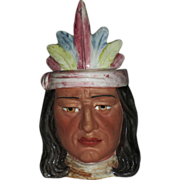 Majolica Native American Figural Humidor