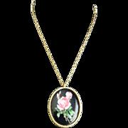 Trifari Rose Pendant Necklace