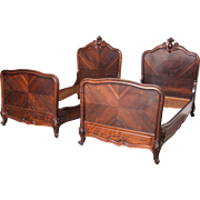 SALE Louis XV Turn of the Century Rosewood beds