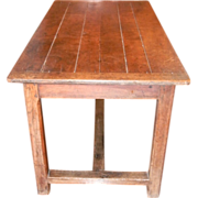 SALE Rustic Trestle Table Desk Early 18th Century