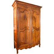 SALE 18th Century  Louis XV Cherrywood Armoire star on bottom