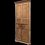 SALE 18th Century Gustavian Corner Cabinet