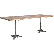 SALE Paris Bistro Vintage Farm Dining Table