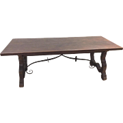 Exceptional antique Spanish Trestle Table