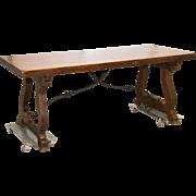Antique Spanish Trestle Table
