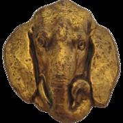 SALE JOSEFF (of Hollywood) Stunning Elephant Head Repoussé Brooch