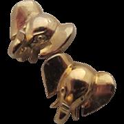 SALE Mimi di N Gold Plated Elephant Head Pierced Earrings, 1978