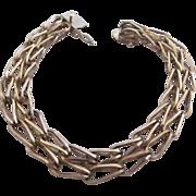 SALE Forstner Stylish Gold Filled Double Link Charm Bracelet