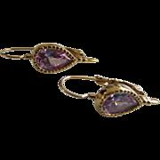 SALE Lavender Cubic Zirconia Victorian Style Pierced Earrings