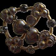 Sweet Shamrock or Three Leaf Clover Silvered Pin - Dolls