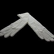 Max Mayer White Nylon Mid Length Gloves, Germany - Unused, in Original Bag