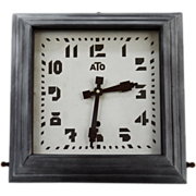 SOLD ATO French Art Deco Wall Clock 1930
