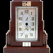 SOLD JAZ French Art Deco Skyscraper Alarm Clock 1930s