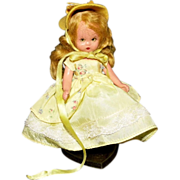 REDUCED Nancy Ann Storybook Doll Yellow Dress Hat AS IS