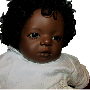 "22"" Annette Himstedt Mo Baby Black African American Boy Vinyl Doll"