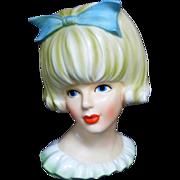 Rare INARCO E-2968 Lady Head Vase Mitzi Gaynor or Doris Day