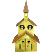 SALE Vintage Wooden Church Cathedral Angels Music Box Musical