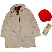 SOLD Vintage Ken Trench Coat Cap Map #788 Rally Day Barbie Family