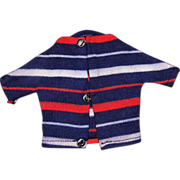 SOLD Ideal Tammy Ted Red White Blue Stripe Shirt Sweater