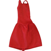 SOLD Vintage 1980s Barbie Doll Red Sleeveless Dress