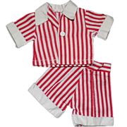 SOLD Vintage Ideal Tammy or Type Doll Clothes Pants Top Red White Stripe