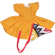 SOLD Lovely Mustard Yellow Dress with Scarf for Ideal Tammy Doll