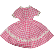 SOLD Pretty in Pink Gingham Cotton Gingham Dress for Ideal Tammy Doll