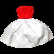 SOLD Vintage Barbie Dress #977 Silken Flame Red White
