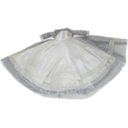 SOLD Vintage White Satin Evening Gown Dress Lace Overlay for Barbie Fashion doll