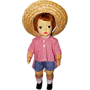 Vintage buddy lee doll denim blue jeans in unworn for Redhead bear creek flannel shirt