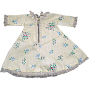 """SOLD Vintage Yellow Vogue Medford Floral Dress with Zipper for 8"""" Ginny Ginger Muffie"""