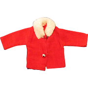"SOLD Cute Red Coat with White Fake Fur Collar for Ideal Tammy 12"" Fashion Doll"