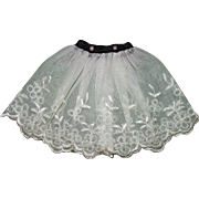 SOLD Ideal Tammy Doll Vintage White Over Skirt with Pearl Buttons