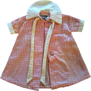SOLD Ideal Tammy's Mom Doll Vintage Pink White House Coat or Dress AS IS