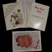 Vintage Kathe Kruse Certificate Catalog Company Booklet