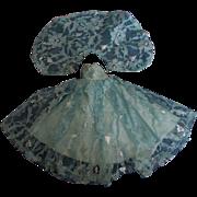 SALE Vintage Turquoise Silver Floral Evening Gown Set for Jill Miss Revlon or other Slender ..