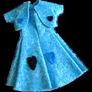 SALE 1950s Vintage Vogue Jill Jan or other Applique Felt Dress with Jacket