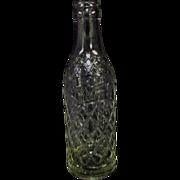 "SALE Vintage 8"" Gem City Clear Soda Pop Bottle"
