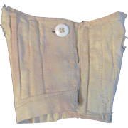 SALE Antique Cotton Corset with Wooden Stays for Bisque Fashion Doll
