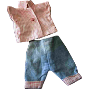 Ginny Outfit Factory made Check Shirt Blue Jeans