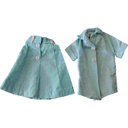 Tammy Doll Tagged Outfit Light Aqua Skirt Blouse