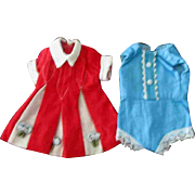 Tammy Pepper Fashion Doll Clothes Red White Dress Blue Onesie