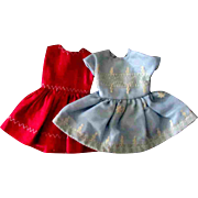 Tammy Pepper Doll Clone Mommy Made Clothe Two Dresses Pink Blue